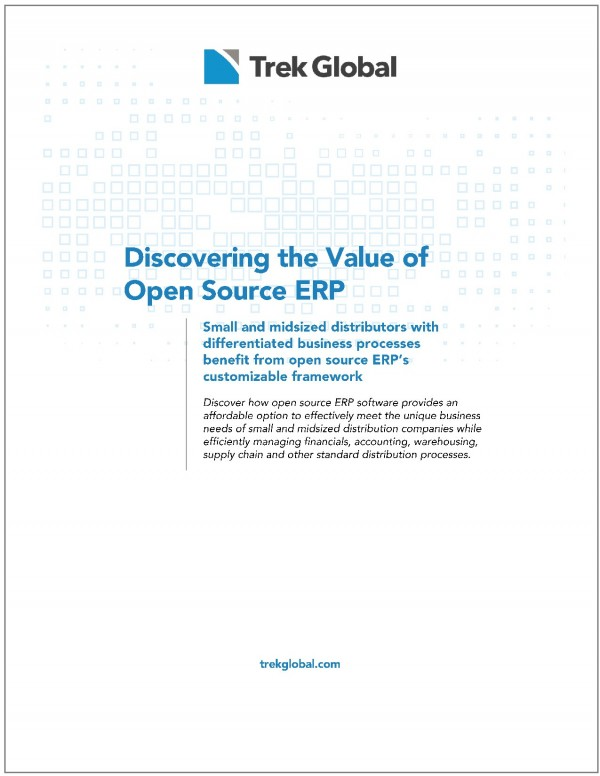 White paper on Open Source ERP, by Trek Global
