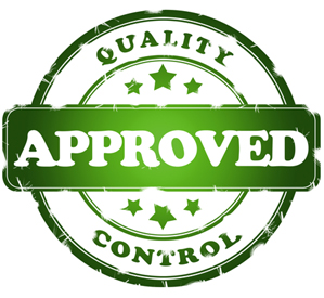 Quality Control Approved clipart