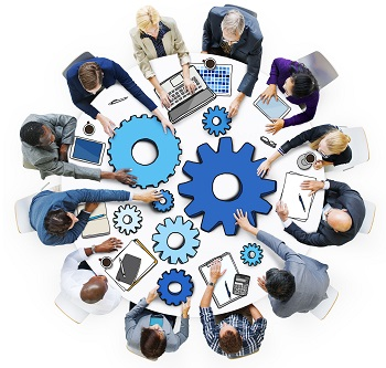 A group of staff doing Integrated Business Planning